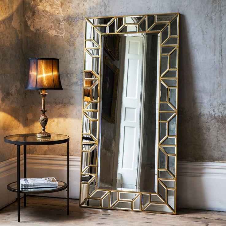 Gold Geometric Floor Standing Mirror In 2019