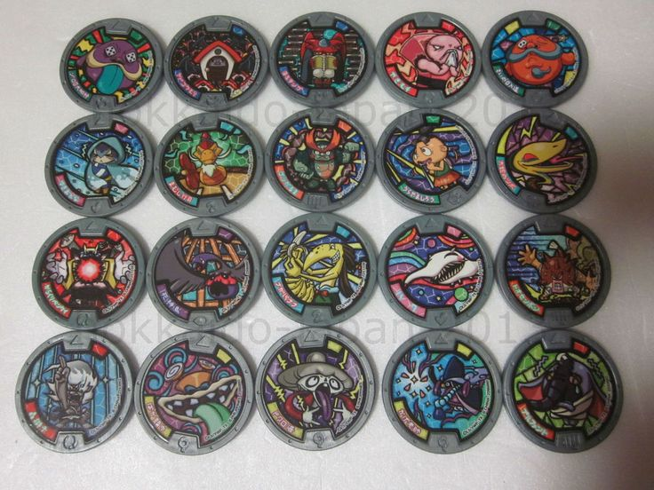 Yo-kai Watch Lot 20 Medals Gray JAPAN Version Gashapon Frostina F/S #BANDAIJAPAN