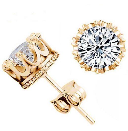 Crown Princess Crystal Stud Earrings. $11.99