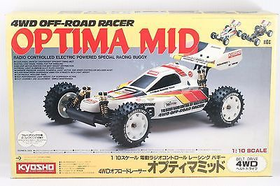 KYOSHO 1:10 Scale  OPTIMA MID 4WD OFF-ROAD RACER  RC KIT VINTAGE ULTRA RARE