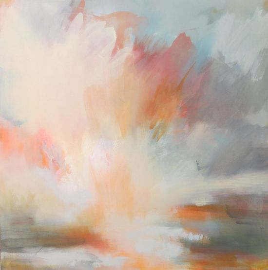 "'Glorious Morning' by the very talented Henrietta Stuart, from her recent show @AandDGallery in London which was called Dancing Light. These are life-affirming paintings in which (she writes) "" the natural world is modulated by time and season, disclosed by visual texture and colour""."