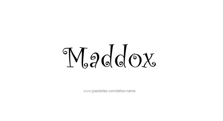maddox   Name Dropping   Pinterest