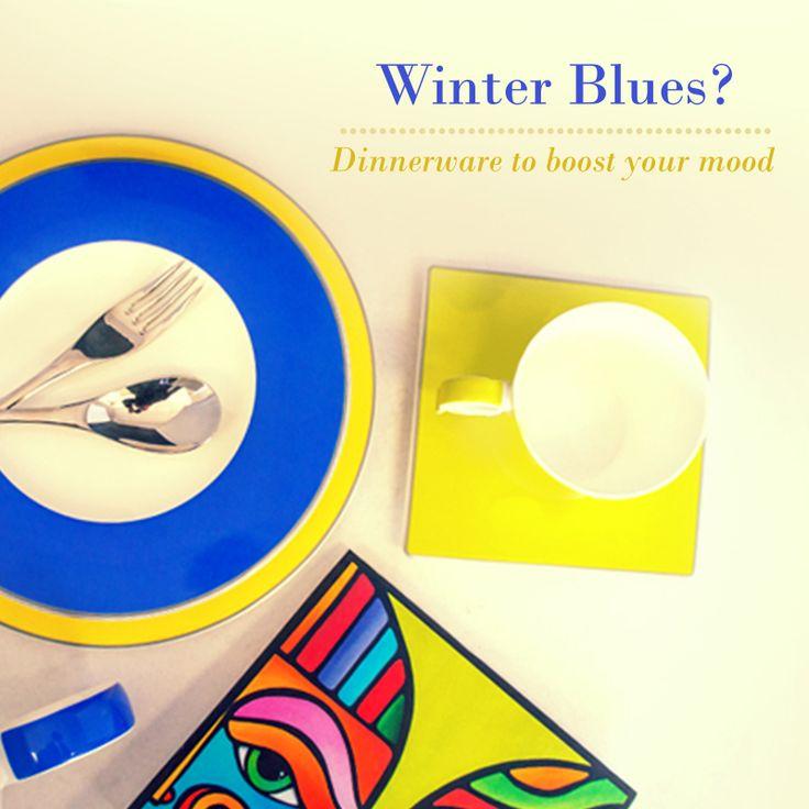 Lose the winter blues! Add a splash of colour with Noritake Contempo.