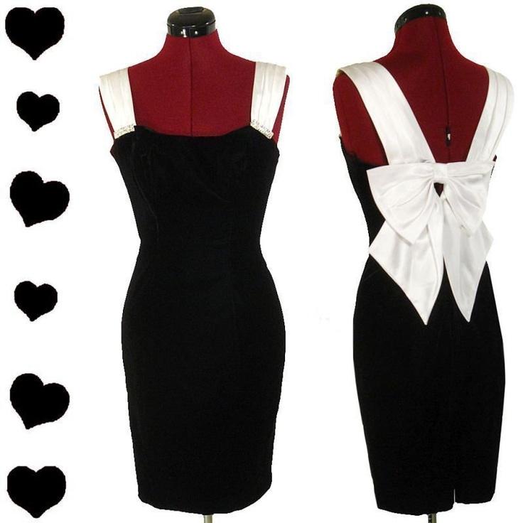 Black dress 80s style pattern