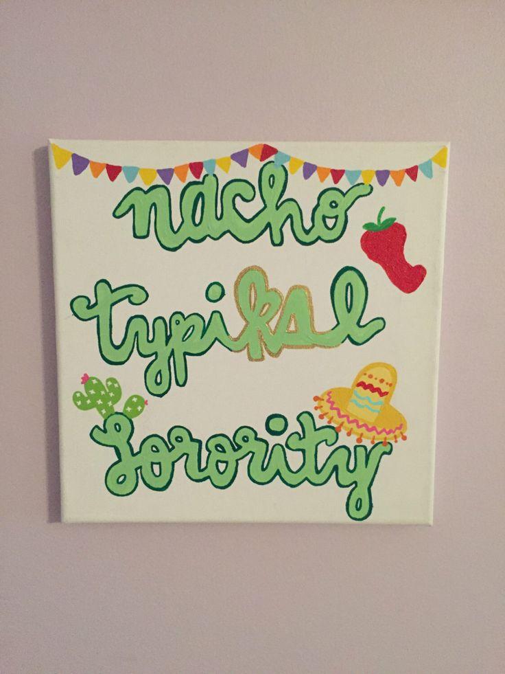 kappa delta nacho typiΚΔl sorority canvas