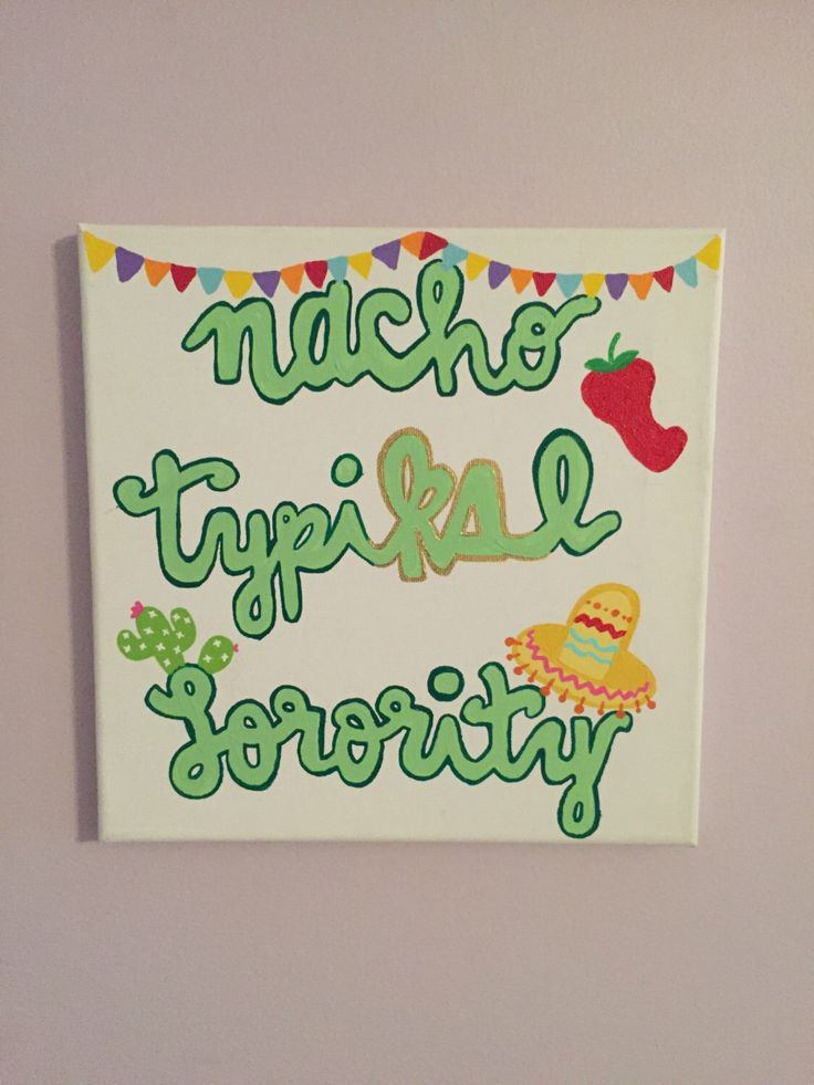 kappa delta nacho typiΚΔl sorority canvas