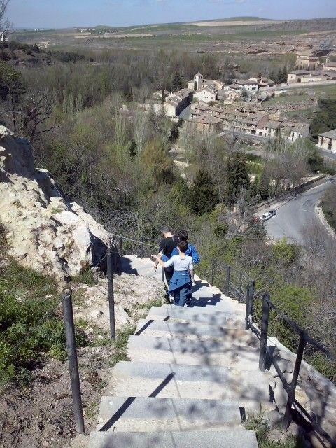 y ahora bajando....Segovia 2014
