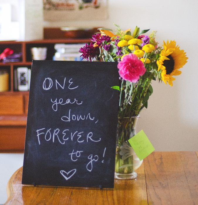 My Thoughts On Our First Year Of Marriage For The Home Pinterest Anniversary And