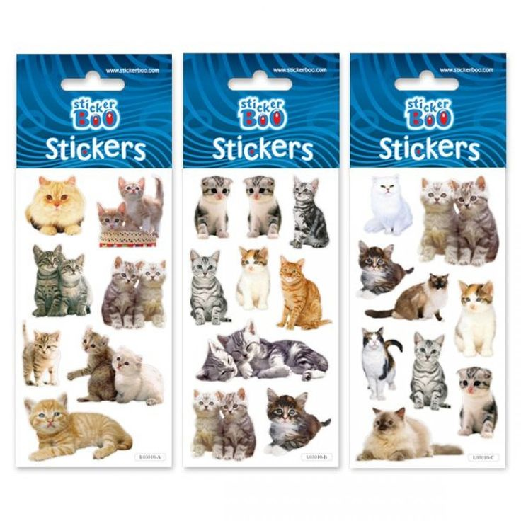 Stickers og klistermærker med katte og kattekillinger til børn fra sjovogkreativ.dk