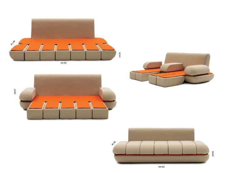 21 best transformable furniture italian furniture for Sleek sofas small spaces