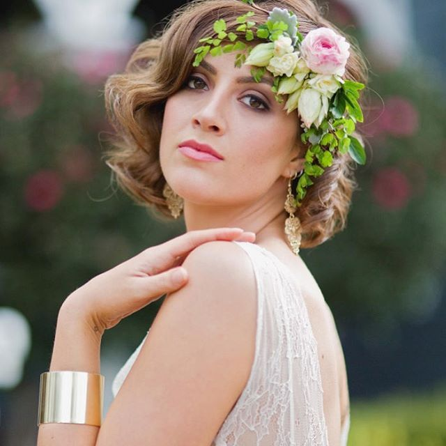 Hunter Valley Bridal Photo Shoot//flowercrown//spring makeup inspiration//spring wedding www.maplelane.com.au