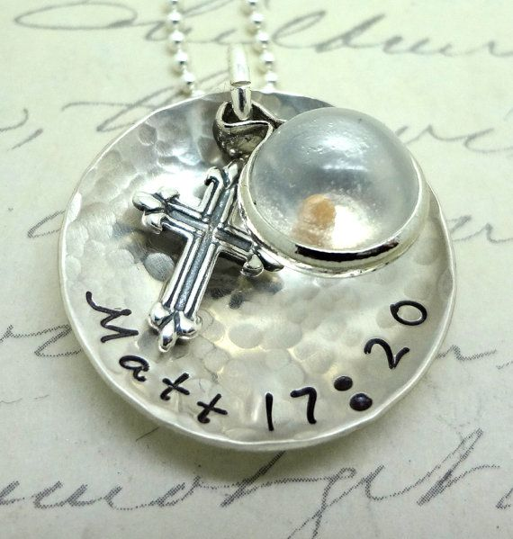 Faith Mustard Seed Hand Stamped Jewelry Necklace Personalized Sterling  Custom - Matthew 17:20