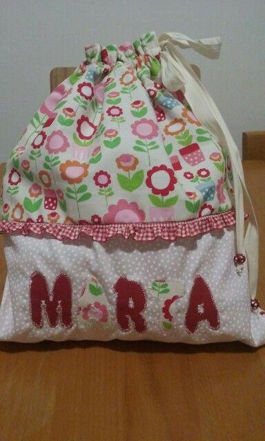 Sacchetto nascita, borsa porta abiti neonato, borsa merenda, drawstring bag, lunch bag