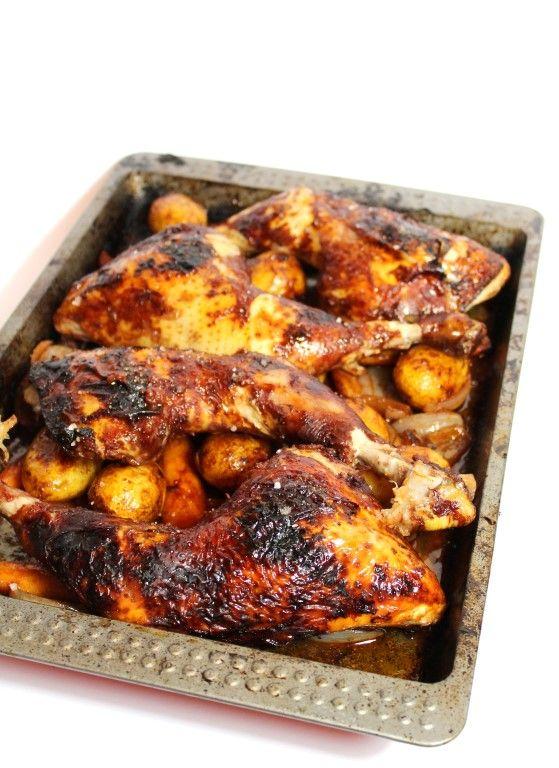 Coq au vin (kip in rode-wijnsaus) uit de oven!