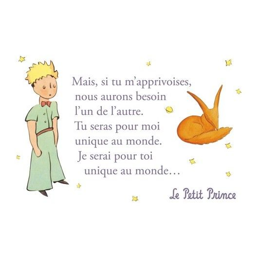 Carte postale Le Petit Prince - Si tu m'apprivoises… 1