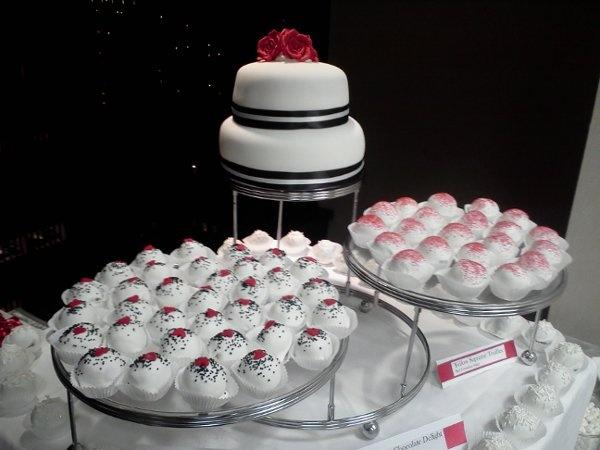 Black Red White Groom's Cake Multi-shape Round Wedding Cakes Photos & Pictures - WeddingWire.com