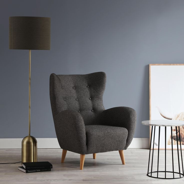 Goldie designer chair & trenton side table