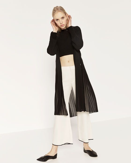Image 1 of LONG PLEATED JACKET from Zara