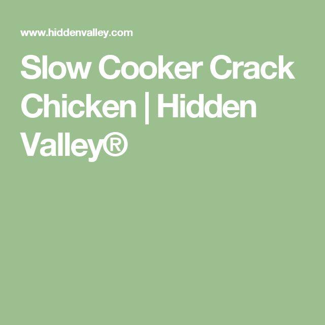 Slow Cooker Crack Chicken | Hidden Valley®