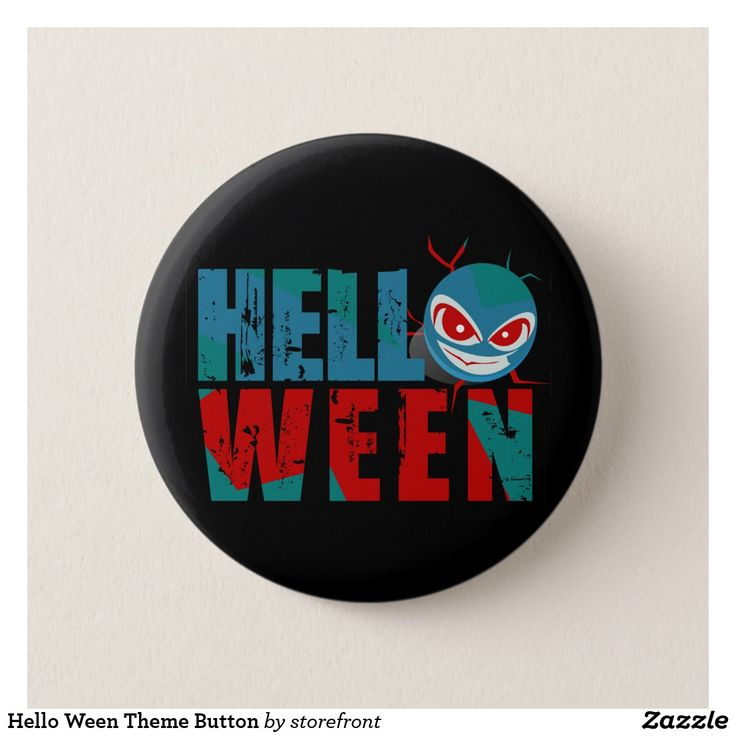 Hello Ween Theme Button