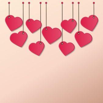 Hearts hanging ropes