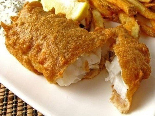 Fish in cheese batter
