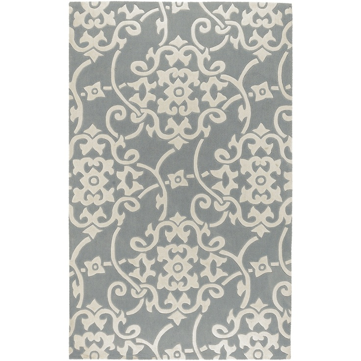 Surya Cosmopolitan Silver Gray Contemporary Rug Csn Stores Hand Tufted Rugs Floral Area Rugs Contemporary Area Rugs