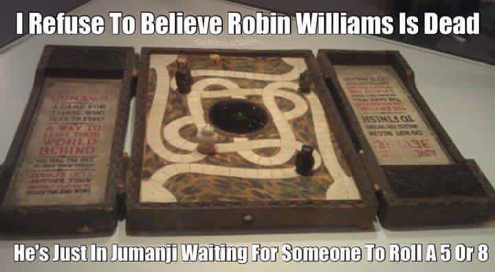 Robin Williams. Jumanji.