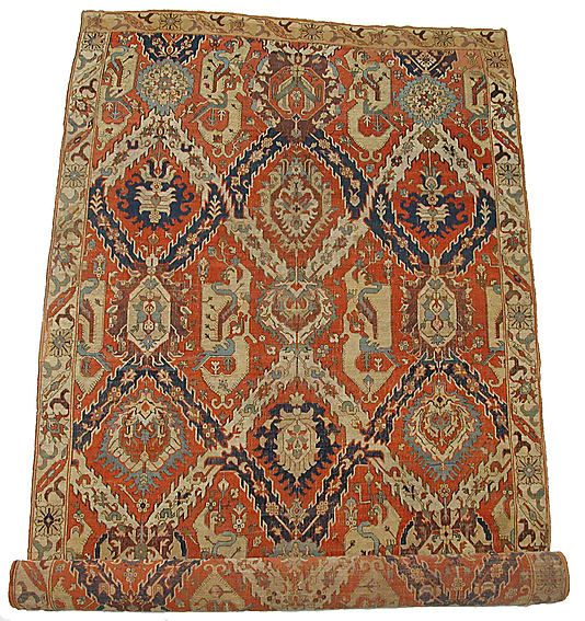 Dragon Carpet    Object Name:      Carpet  Date:      17th century  Geography:      Azerbaijan, Kuba  Medium:      Wool (weft and pile); cotton (warp)  Dimensions:      H. 170 in. (431.8 cm) W. 90.00 in. (228.6 cm)  Classification:      Textiles