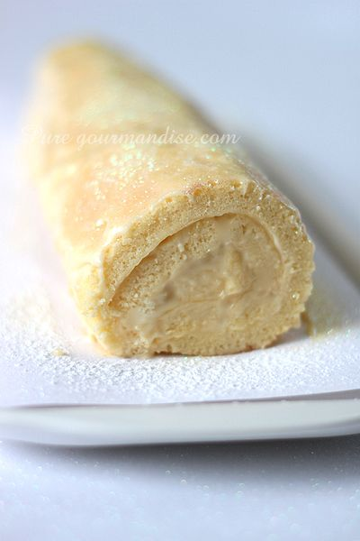 Bûche au lemon curd et au limoncello - www.puregourmandise.com