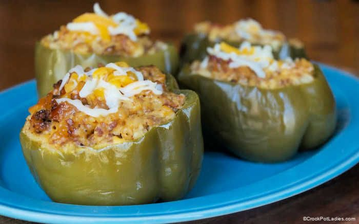 Crock Pot Country Stuffed Green Peppers Recipe Recipe In 2020 Stuffed Peppers Stuffed Green Peppers Recipes
