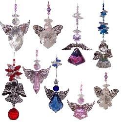 crystal angels, Bulk pack -10 mixed angel suncatchers by Just Like Leadlight