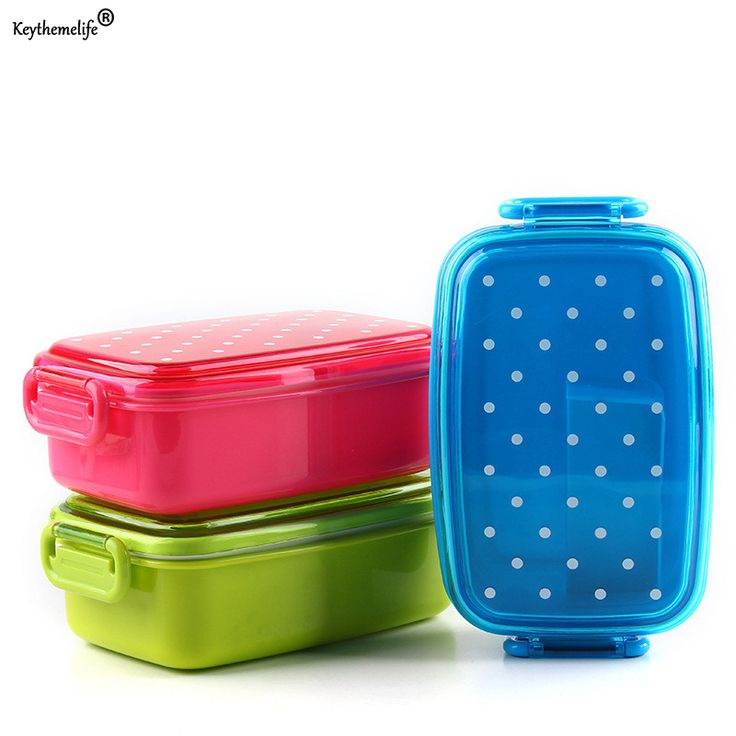 Dot Lunch Box Tableware Dinnerware Food Container Bento Sushi Box Kid Baby Fruit Snack Portable Microwave Lunch Box A