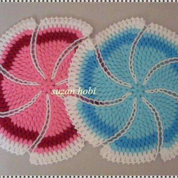 """52 Beğenme, 2 Yorum - Instagram'da Suzan Hobi (@suzan_hobi): """"Rüzgar gülü lif modellerim  #crochet #crochê #crocheting #crochetlove #tığişi #tığ #çeyizlikişler…"""""""