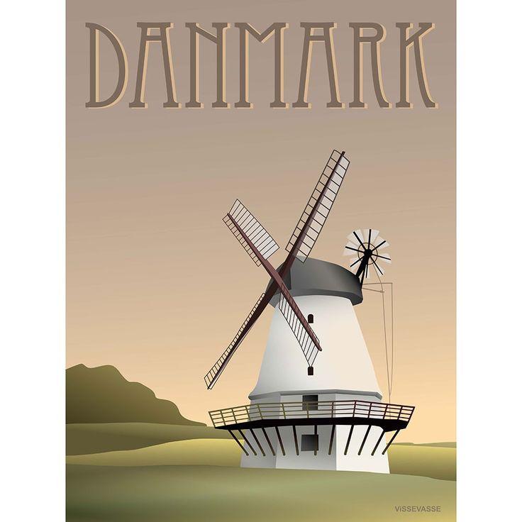 DANMARK-Møllen, 50x70 cm