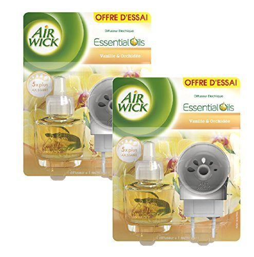Air Wick Diffuseur Electrique Vanille & Orchidée - Lot de 2 #Wick #Diffuseur #Electrique #Vanille #Orchidée