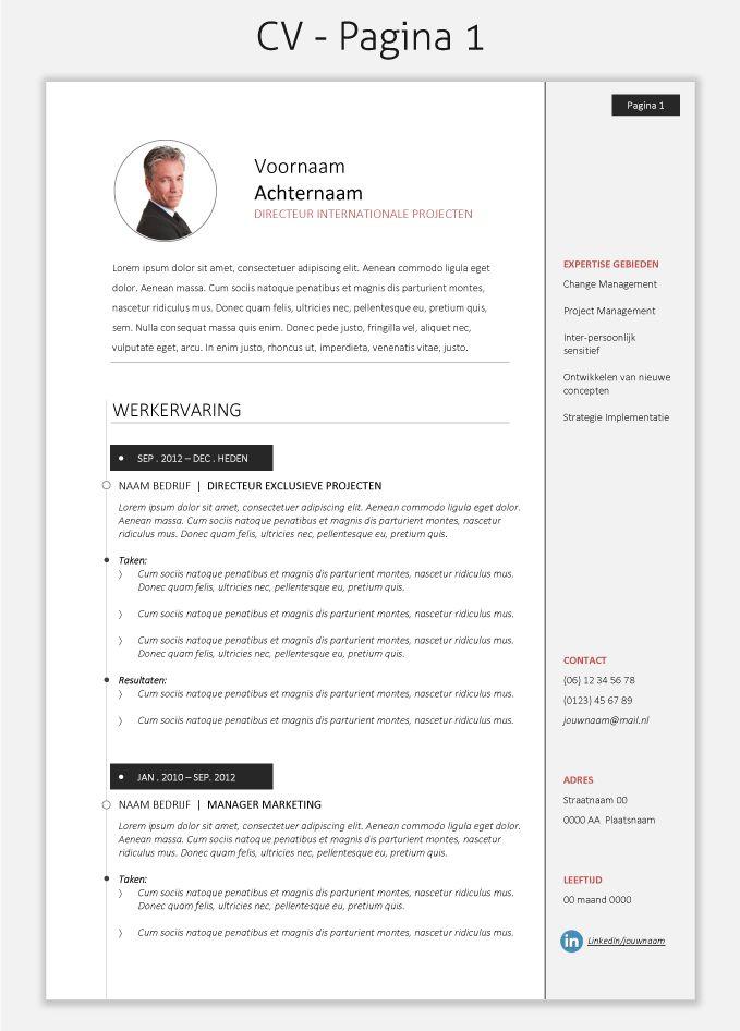 CV template 2025 om te downloaden