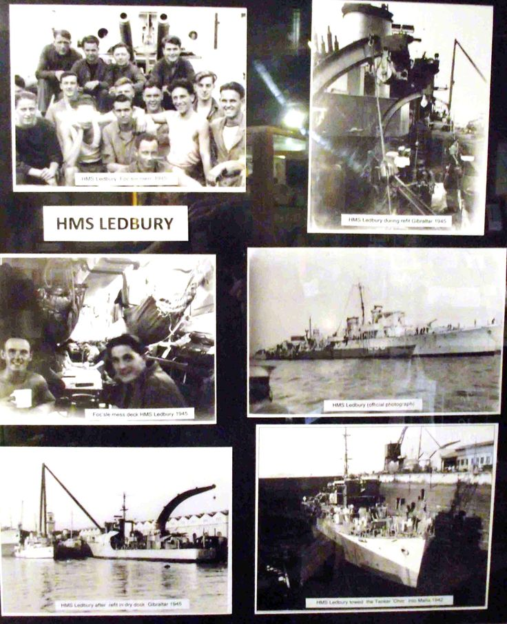 HMS Ledbury is a mines counter measures vessel. She is named after Ledbury Hunt rather than the Town but the crew regularly parade through Ledbury. The present ship was built in 1981. A previous HMS Ledbury, then an Escort Destroyer, protected the convoys to supply Malta in 1942 and, equally dangerously, accompanied the convoys supplying the Soviets at Archangel. Ledbury's Butcher Row House has photos of the 1942 ship and her brave crew.