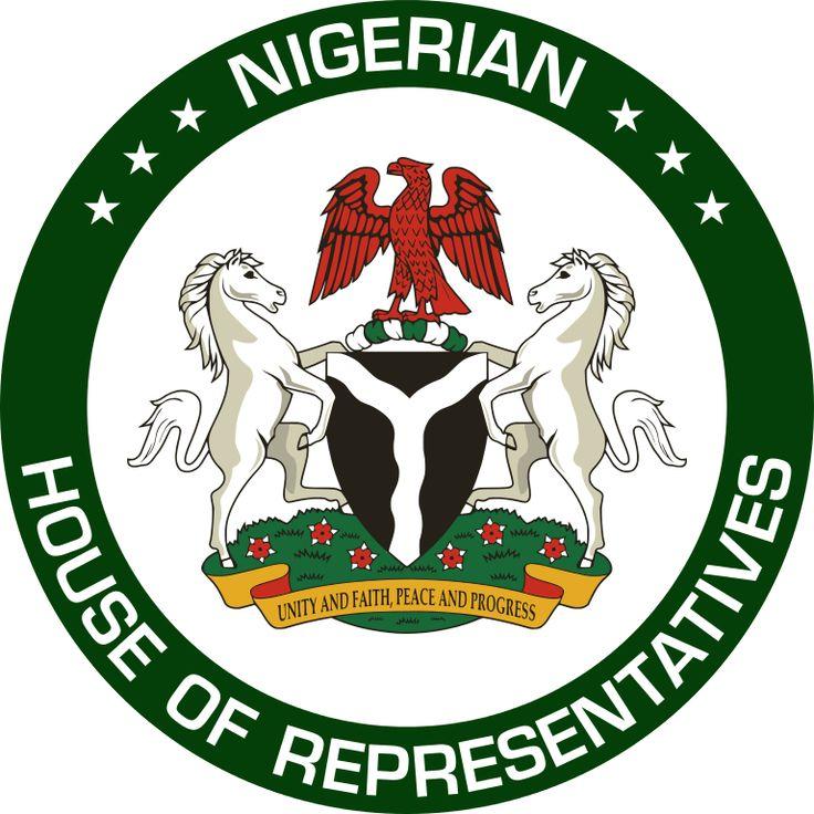 Brasão da Câmara de Representantes da Nigéria.  Seal of the House of Representatives of Nigeria.