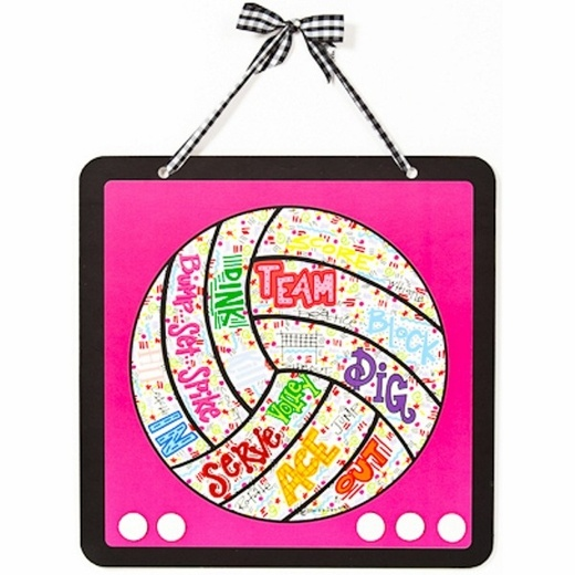 Volleyball Doodle Magnet Board