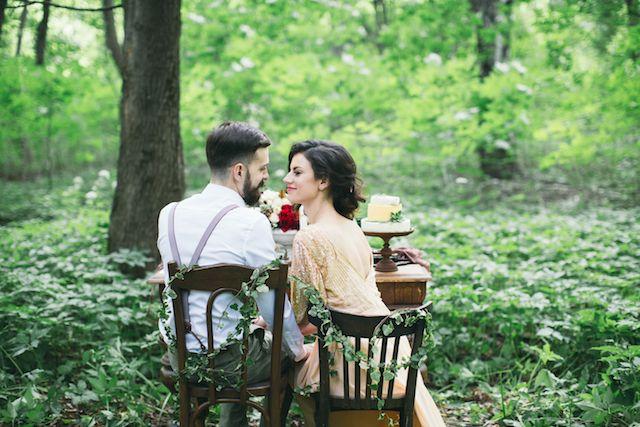 Romantic forest wedding elopement | Alena Plaks
