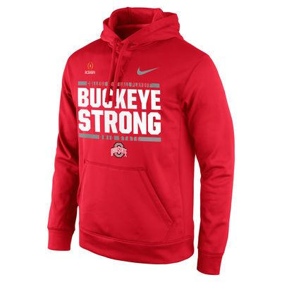 Ohio State Buckeyes Nike 2016 College Football Playoff Bound Buckeye Strong Pullover Hoodie - Scarlet - Fanatics.com