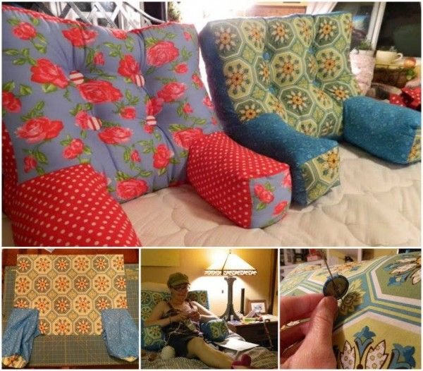 If you read, sew, or sit in bed for long each day, this backrest pillow with arms might be a good project to make. This backrest pillow is cozy and comfy. It is an easy sewing project. What you will n