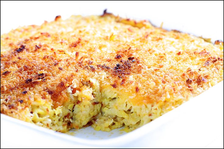 Baked Cheesy Squash Casserole | Recipe