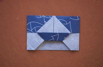 How to fold Origami Sailboat Envelope (LaFosse)? Origami Sailboat Envelope (LaFosse)