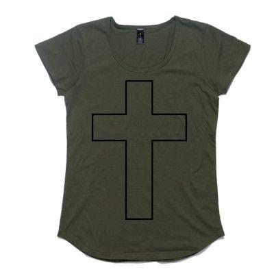 Ladies Christian Cross T-shirt