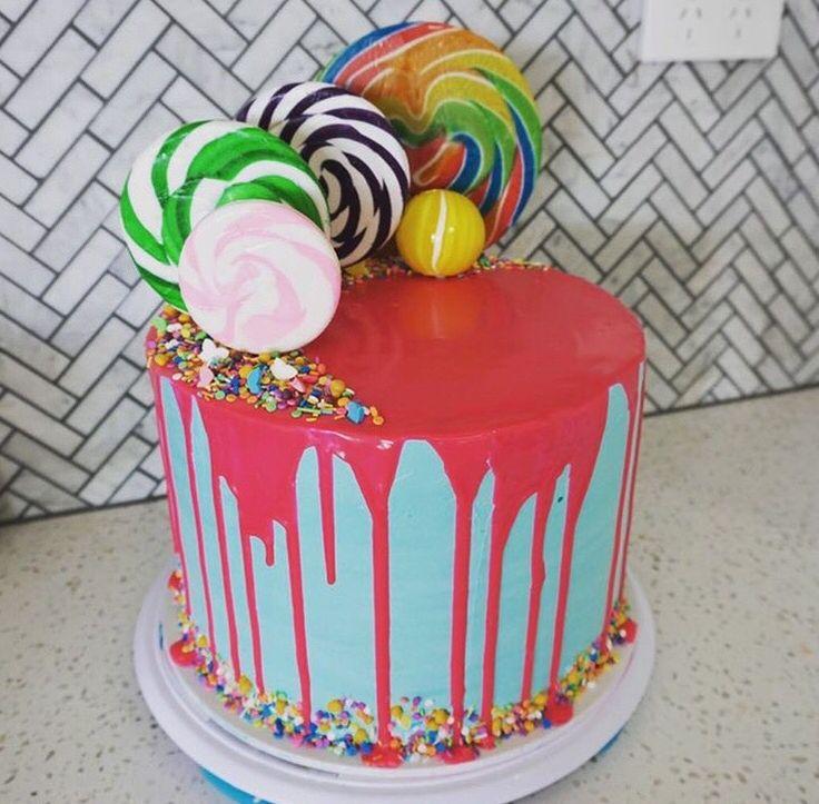 Drip buttercream cake.