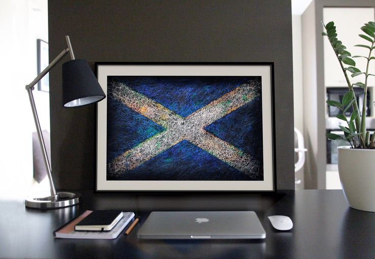 A personal favourite from my Etsy shop https://www.etsy.com/listing/218453314/scottish-distressed-flag-hand-painted