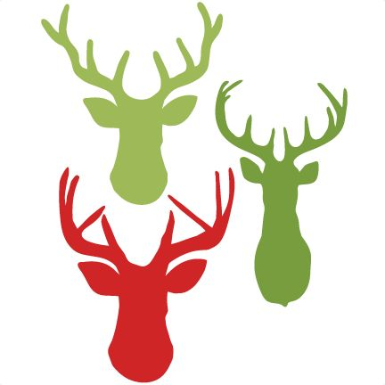 Freebie of the Day! Deer Heads Set Model/SKU: deerheadsset111116