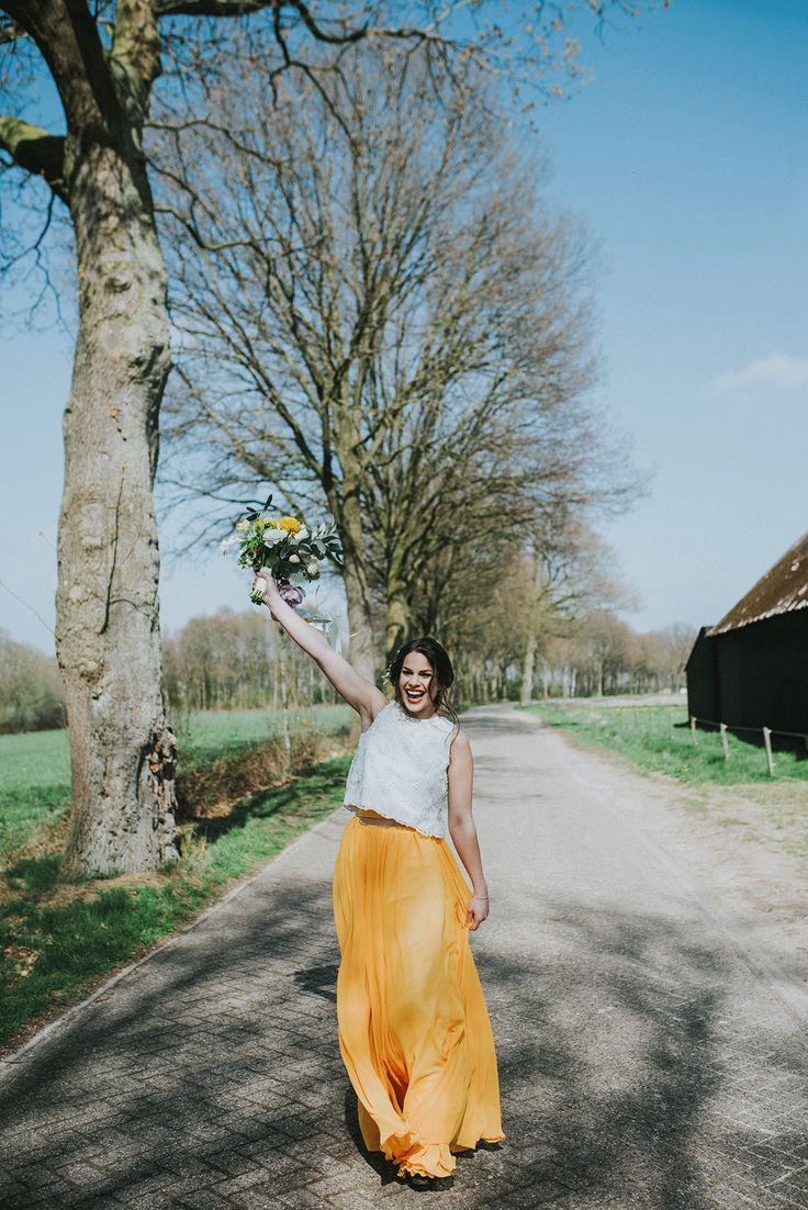 Hoe fantastisch is deze gele jurk? Foto: Bureau Cocoon